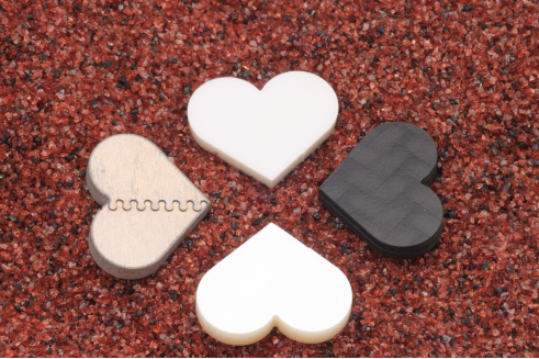 4 hearts in different materials.png
